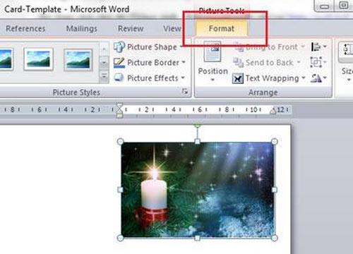 Hướng dẫn tự tạo thiệp Giáng sinh độc đáo trên Word 2007 - 2