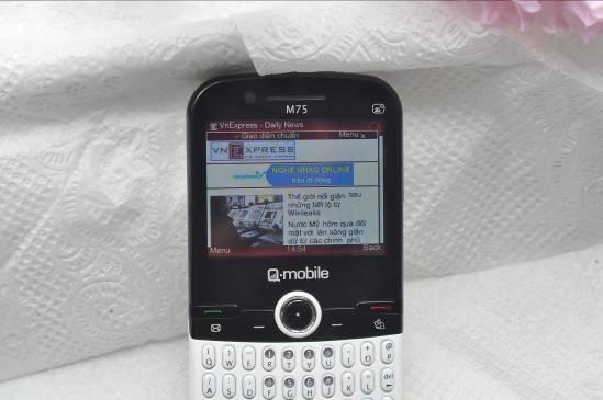 Q-mobile M75 – Cảm ứng 3G, vui không bến bờ - 5