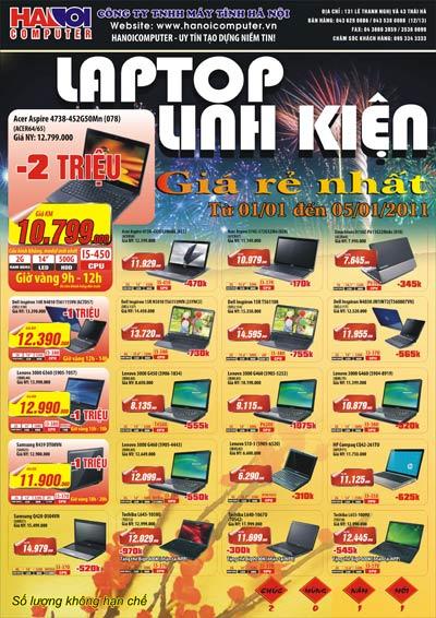 Laptop, linh kiện giá rẻ nhất tại Hanoicomputer - 1