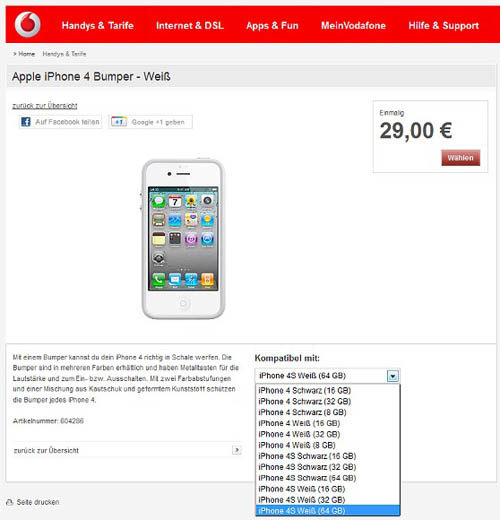 iPhone 4S 64GB cập bến Vodafone - 1