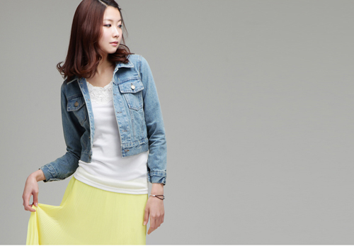 Mặc áo khoác jean đẹp và đúng mốt - 1