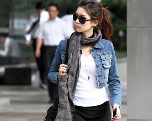 Mặc áo khoác jean đẹp và đúng mốt - 7