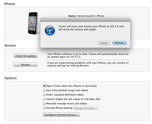 Hướng dẫn chi tiết cách cài đặt iOS 5 - 7