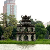 Chuyện ít biết về Tháp Rùa Hồ Gươm