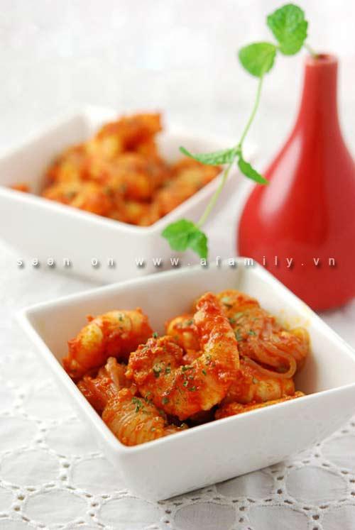 Cơm tối ngon với tôm sốt cà chua - 5