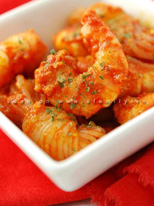 Cơm tối ngon với tôm sốt cà chua - 4