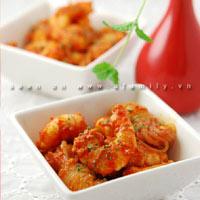 Cơm tối ngon với tôm sốt cà chua