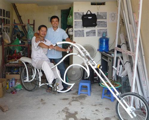 Xe đạp kiểu dáng Harley Davidson độc nhất Việt Nam - 2