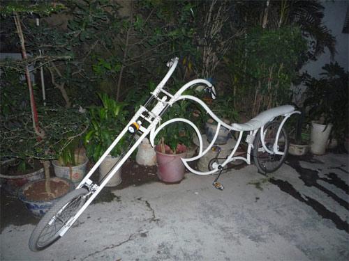 Xe đạp kiểu dáng Harley Davidson độc nhất Việt Nam - 1