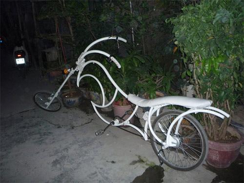 Xe đạp kiểu dáng Harley Davidson độc nhất Việt Nam - 4