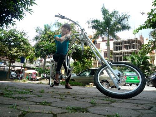 Xe đạp kiểu dáng Harley Davidson độc nhất Việt Nam - 5