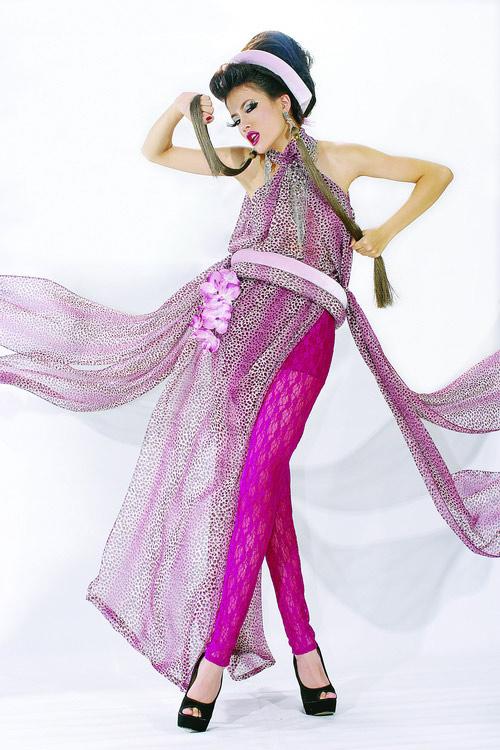 Huyền Trang cá tính cùng áo dài da beo - 14
