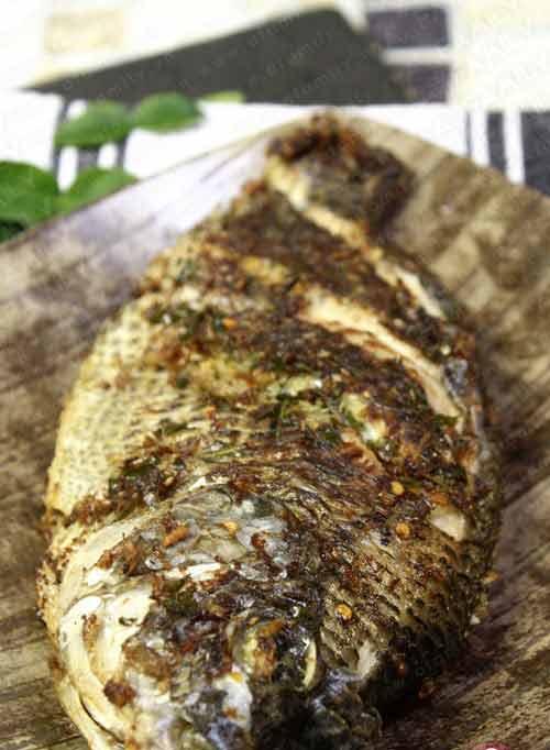 Cá rô phi chiên sả, lá chanh - 7