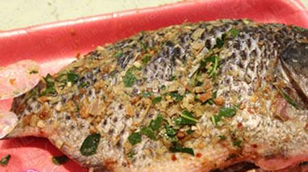Cá rô phi chiên sả, lá chanh - 3