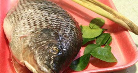 Cá rô phi chiên sả, lá chanh - 1