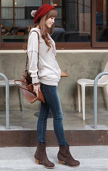 Phối đồ duyên dáng với áo len dáng dài - 2