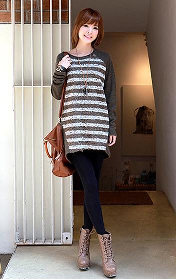 Phối đồ duyên dáng với áo len dáng dài - 4