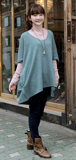 Phối đồ duyên dáng với áo len dáng dài - 14