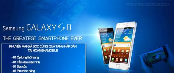 Mua Samsung Galaxy SII chính hãng tặng sạc cốc - 1