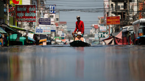 Hôm nay 4 tỉ m3 nước tràn vào thủ đô Thái Lan - 1