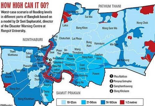 Nguy cơ lũ nhấn chìm thủ đô Thái Lan - 6