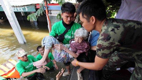 Nguy cơ lũ nhấn chìm thủ đô Thái Lan - 9