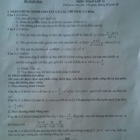 Đề thi Toán giữa kỳ lớp 12 sai bét