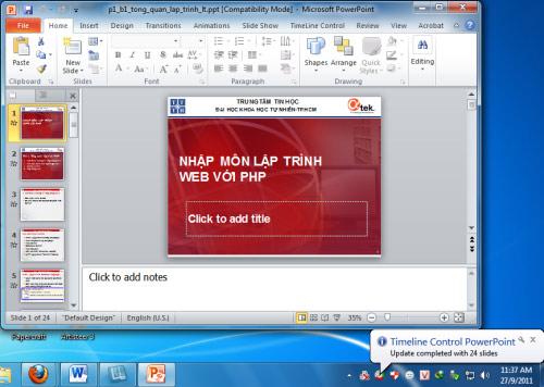 PowerPoint Office Timeline: Điều chỉnh thời gian thuyết trình hiệu quả - 1