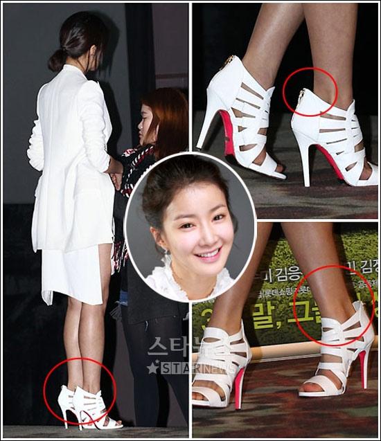 Sao nữ ngượng chín mặt vì giày cao gót - 5