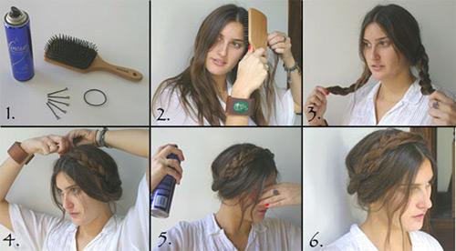 Video làm đẹp: 5 bước làm tóc tết quanh đầu - 1