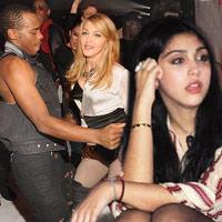 Madonna khêu gợi bên vũ công