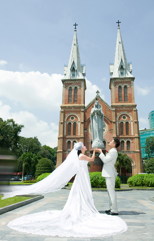 Chụp ảnh cưới ngoại cảnh miễn phí tuyệt đẹp - 1