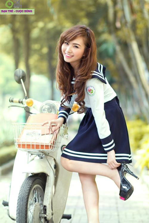 Hot girl Nana xinh tươi tuổi học trò - 12