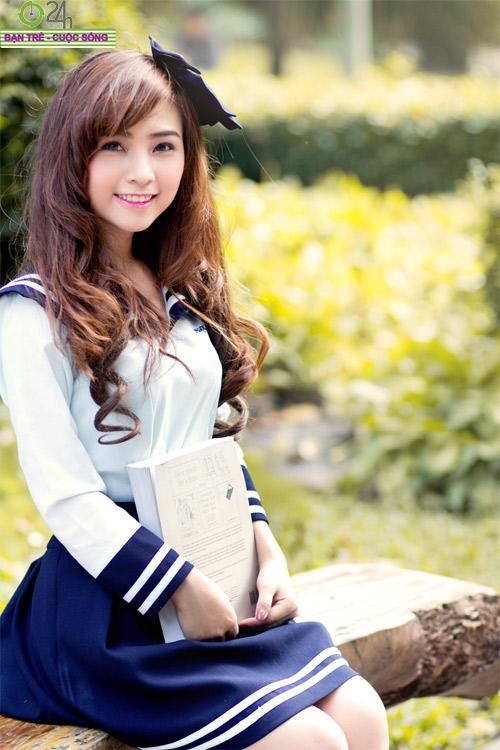 Hot girl Nana xinh tươi tuổi học trò - 13