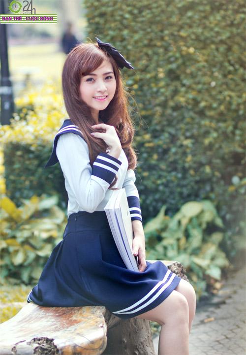 Hot girl Nana xinh tươi tuổi học trò - 14
