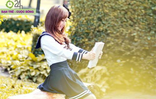 Hot girl Nana xinh tươi tuổi học trò - 15