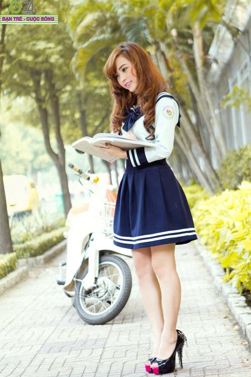 Hot girl Nana xinh tươi tuổi học trò - 5