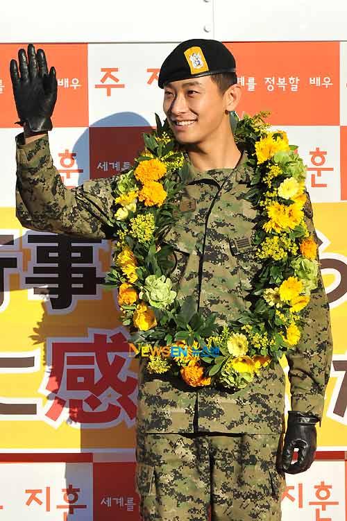 """""""Thái tử"""" Joo Ji Hoon đã xuất ngũ - 1"""