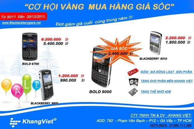 Khuyến mại Blackberry Bold 9000 cao cấp - 2