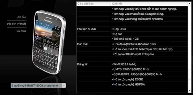 Khuyến mại Blackberry Bold 9000 cao cấp - 4