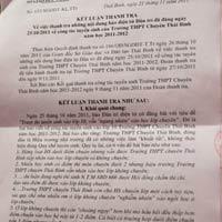 Những sai phạm ở trường chuyên Thái Bình