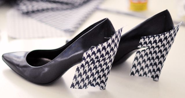Cách biến giày cao gót cũ thành mới - 6