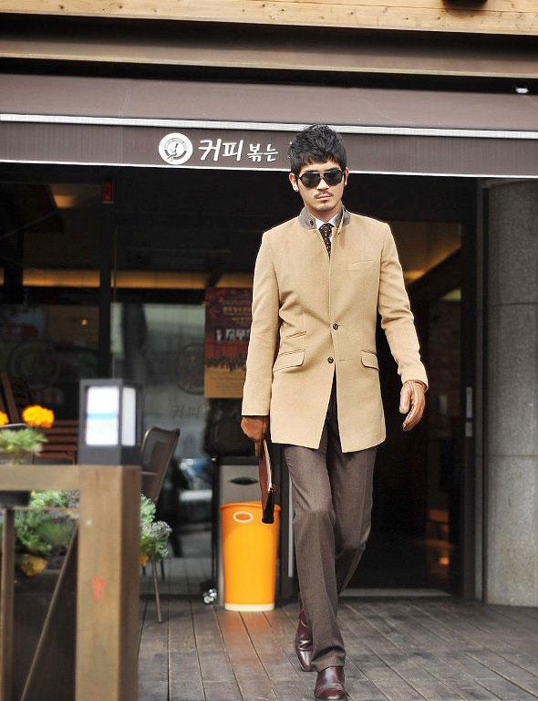 Áo dạ phong cách Hàn Quốc cho chàng - 2