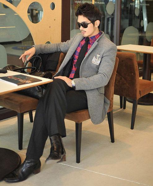 Áo dạ phong cách Hàn Quốc cho chàng - 5