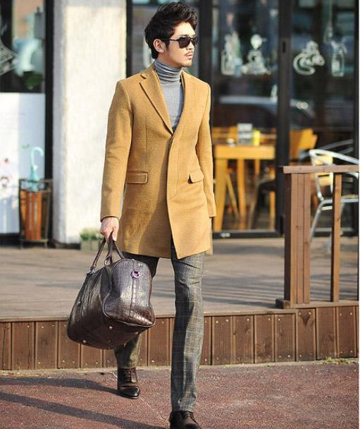Áo dạ phong cách Hàn Quốc cho chàng - 12