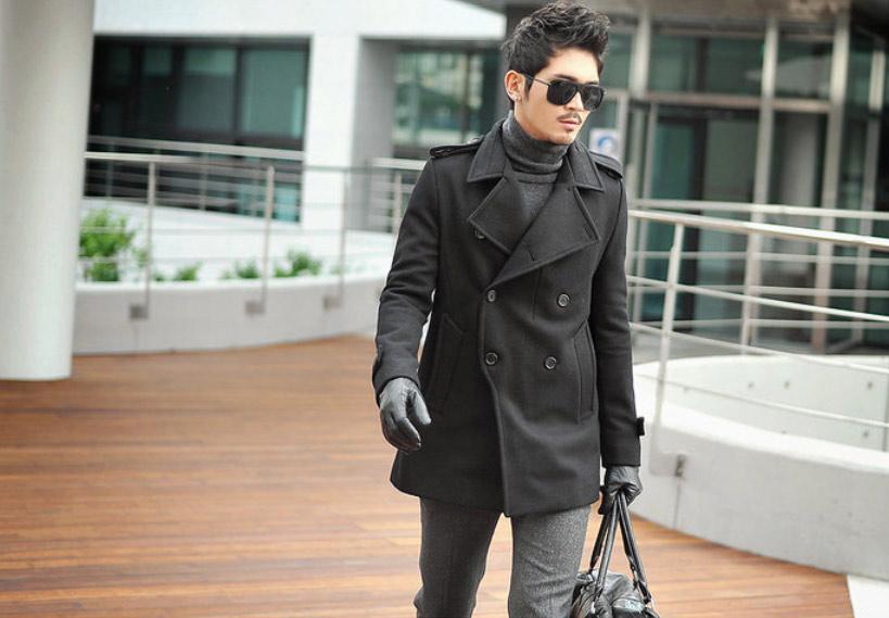 Áo dạ phong cách Hàn Quốc cho chàng - 14