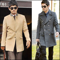 Áo dạ phong cách Hàn Quốc cho chàng