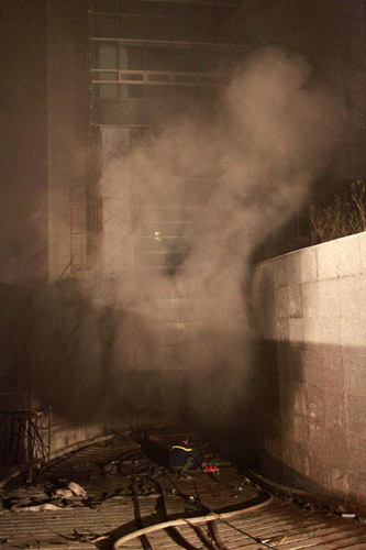 Chùm ảnh vụ cháy tòa nhà EVN - 13