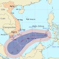 Bão Washi vào biển Đông