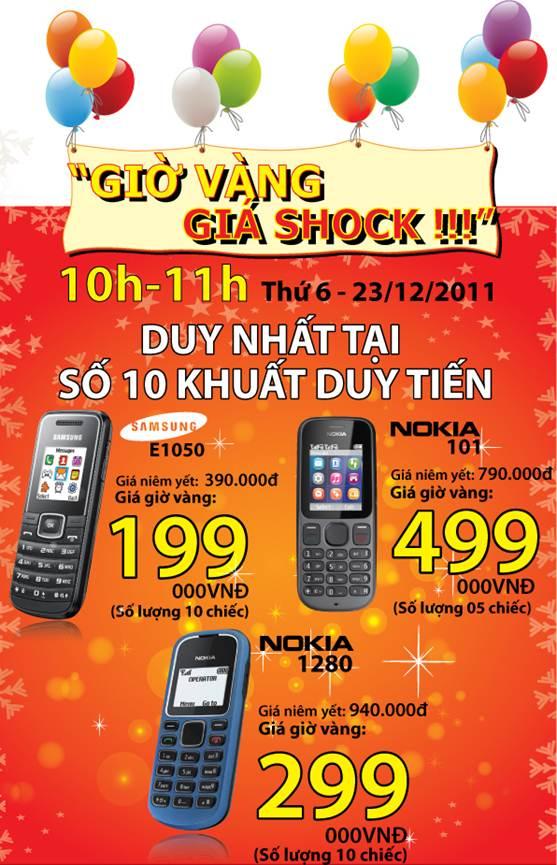 Giờ vàng, giá shock tại Nhật Cường mobile - 1